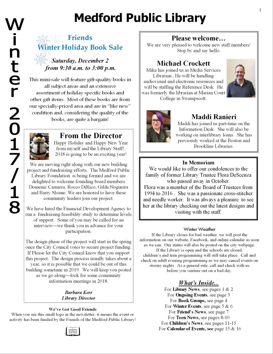 Newsletter page one preview